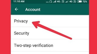 Whatsapp Privacy Secret Settings in Android