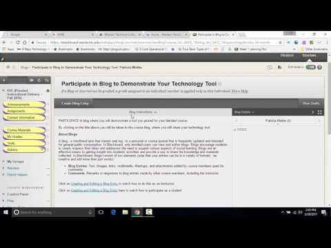 Creating Community in Blackboard for Your Online Course
