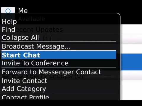 How to start a conversation in BlackBerry Messenger
