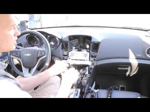 Chevy Cruze dash radio install disassembly assembly dashboard
