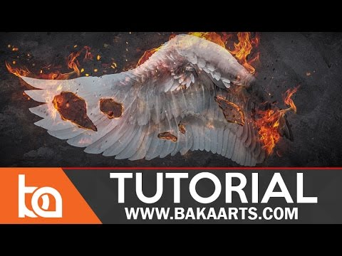 Beginner Photomanipulation Tutorial in Photoshop | Burning Wings