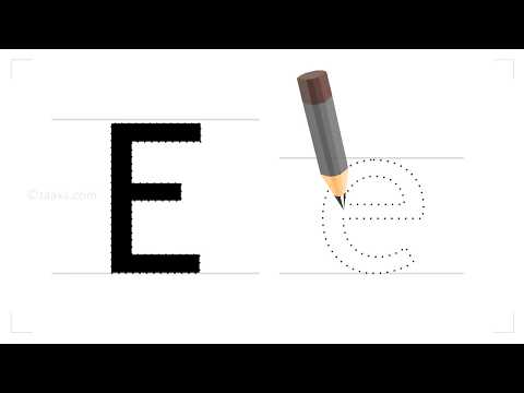 How to write the english letter E?