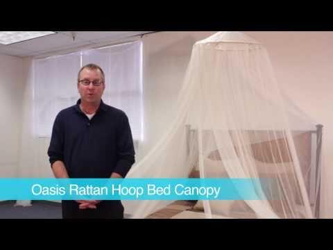 Oasis Rattan Hoop Bed Canopy