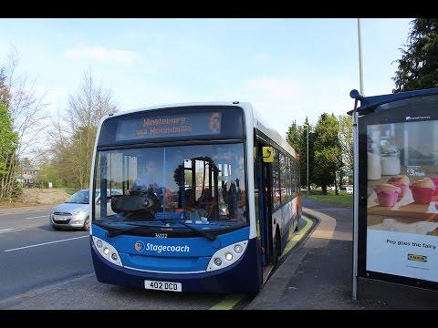 Stagecoach in Hampshire   Alexander Dennis E200   Dart SLF 4   6 to Winklebury   36022 (402DCD)