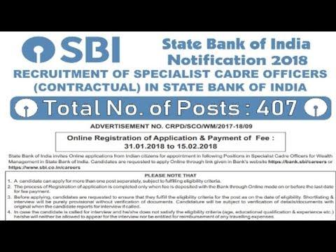 State Bank of India (SBI) Recruitment 2018 | Bank Jobs | Sarkari Naukri