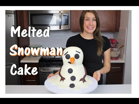 Melted Snowman Cake | CHELSWEETS