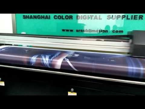 direct sublimation textile printer work video from China factory