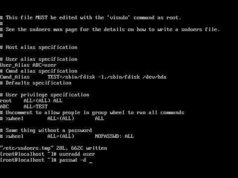 Linux - Setting up sudo users | How to configure Visudo in Redhat Linux ||