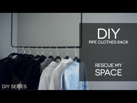DIY Copper Pipe Clothes Rack - Easy