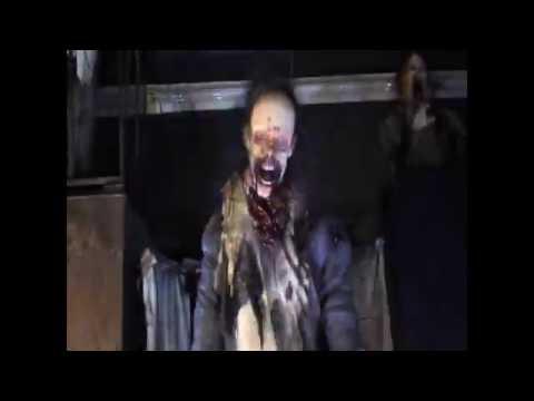 Curtain Zombie Leaper - Zombie Halloween Prop