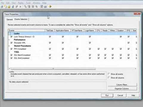 Database Management Tool - SQL Server Profiler