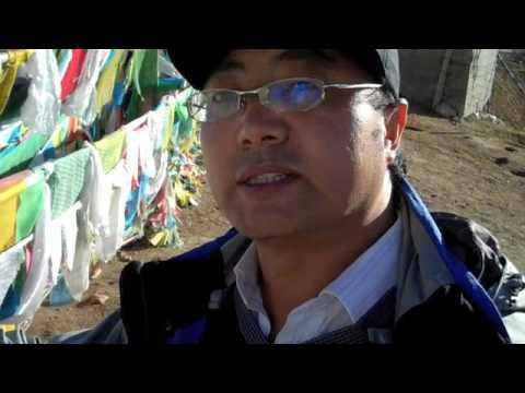 Tibetan prayer flags at 14,000 feet