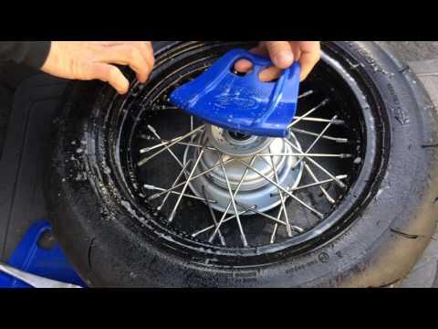 Mounting tubeless tire on spoke wheel Pt.1