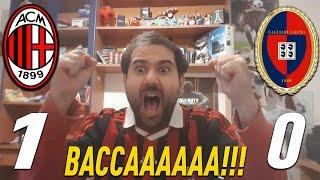 MILAN - CAGLIARI 1-0 • BACCAAAAA!!! • REAZIONE di un TIFOSO ROSSONERO