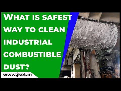 Foam cleaning of coal dust, metal dust, cement dust
