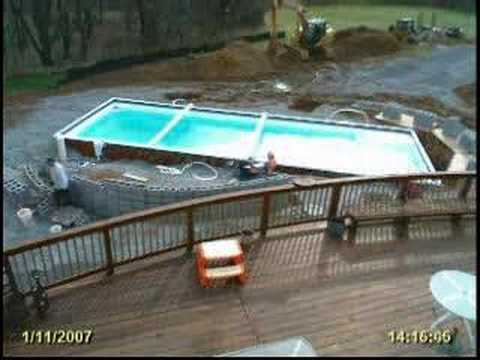 Time Lapse of Swimming Pool Installation