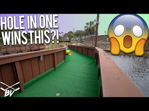 A HOLE IN ONE AT THIS MINI GOLF COURSE WINS YOU THIS!!!