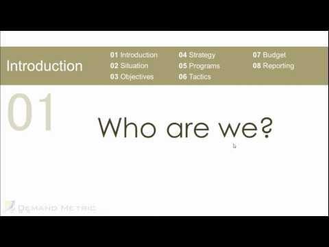 Marketing Plan Presentation Template