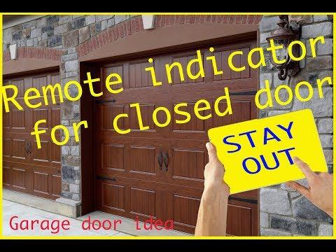 Garage open door remote indicator.  How to make a Open Garage Door monitor Warning Light