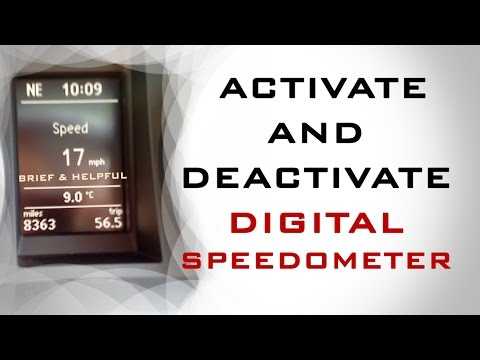 Activate and Deactivate  Digital Speedometer On MFD