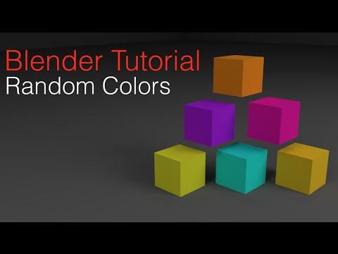 Simplest Way To Add Random Colors With One Material in Blender