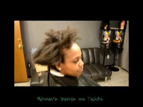 Black girl perm kinky to wavy tight to loose curls that is ;)