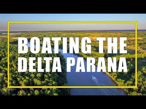 Boating the Delta Parana in Tigre, Argentina