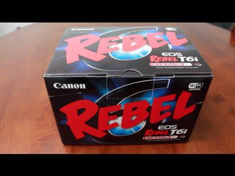 Unboxing Canon T6i EOS Rebel Kit W/ STM 18 55 Lens & WiFi