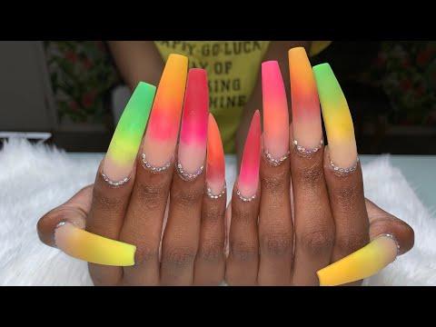 Xxx Mp4 Acrylic Nails Tutorial XX Long Nails Color Acrylic Pride Nails 3gp Sex