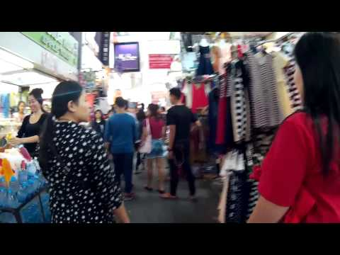 Pratunam Market (Textile) Bangkok Thailand/ 2015 / FullHD