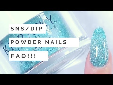 SNS / DIP POWDER NAILS FAQ | Your Questions, Answered! | jiannajay