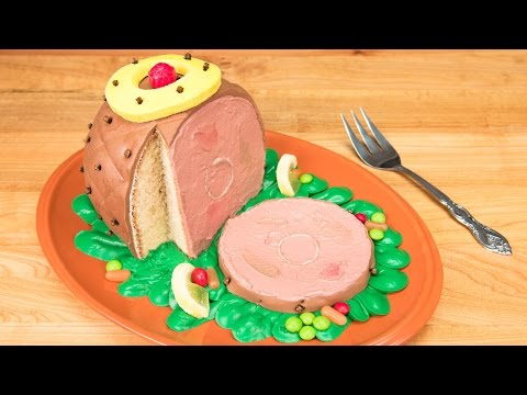3D Ham Cake / Thanksgiving Cake from Cookies Cupcakes and Cardio