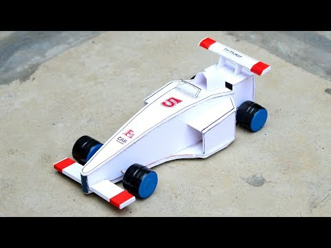 Amazing F1 Racing Car - How to make - [ DIY tutorial ]