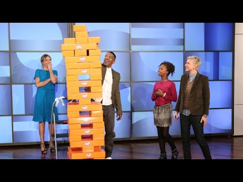 The Cast of 'Annie' Plays Jenga