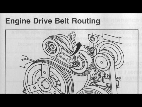 Chevy Cobalt 2.2L  Serpentine belt removal (Read below) Quick & Easy
