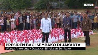 Lagi, Presiden Jokowi Bagi-bagi Sembako