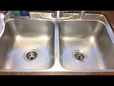 Clean Stainless Steel Sink With Hydrogen Peroxide & Baking Soda