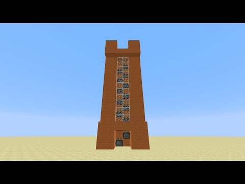 Minecraft - Super Fast Piston Elevator for 1.8 [Tutorial] (OLD VERSION)