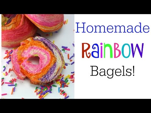 Homemade Rainbow Bagels! | Some of This and That | DIY Galaxy Bagels