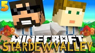 Minecraft: STARDEW VALLEY | CHICKENS ON OUR HEAD?! #5