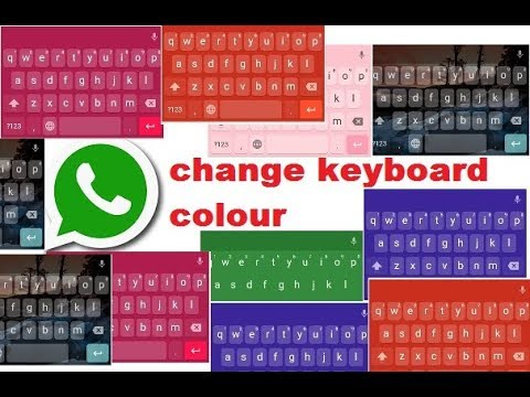 change what'sup keyboard colour