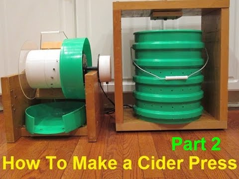 How To Make an Apple Masher and Cider Press - Part 2