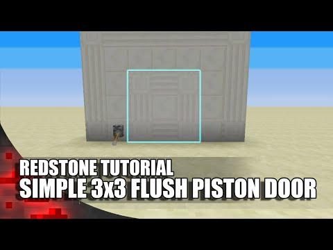 Minecraft: Simple 3x3 Flush Piston Door