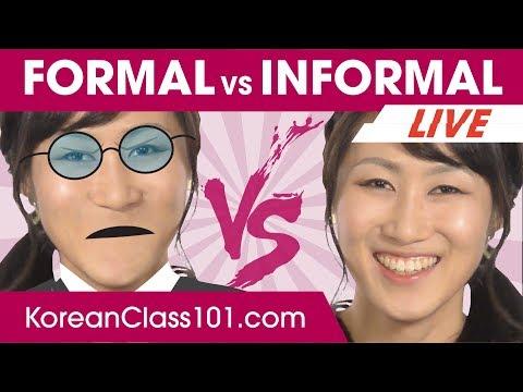 Korean Informal vs Formal language! Politeness Levels 🔴 | Learn Korean LIVE @1pm KST on Thu.