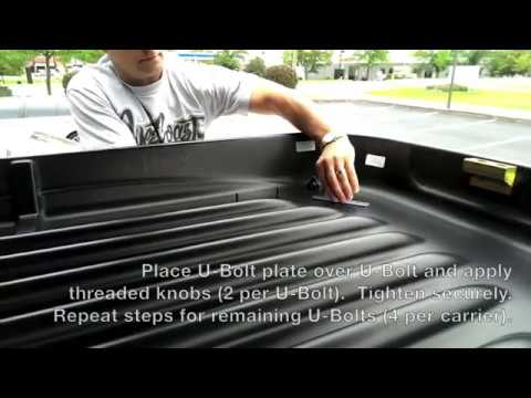 X-Cargo Car Top Carrier - U-Bolt Mounting Installation