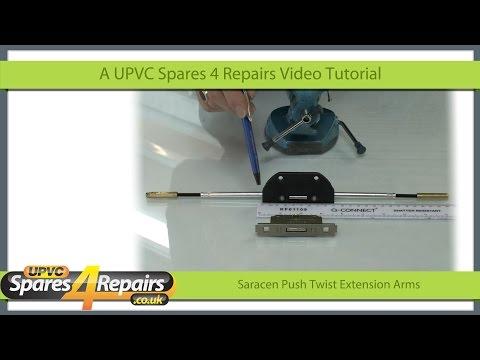 Saracen Push Twist Extension Arms Replacement Upvc Window