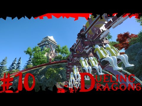 Dueling Dragons | Japanese Planet Coaster Timelapse! #10 [Waterfall]