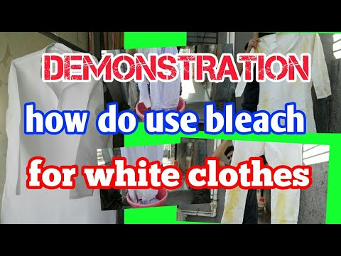 how do use bleach for white  clothes & remove  all stain very easily  DEMONSTRATION (Hindi )