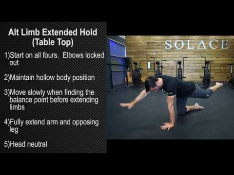 Alt Limb Extended Hold (Table Top)