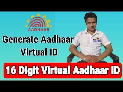 16 Digit Virtual Aadhaar ID | How to Generate Aadhaar Virtual ID by technical naresh